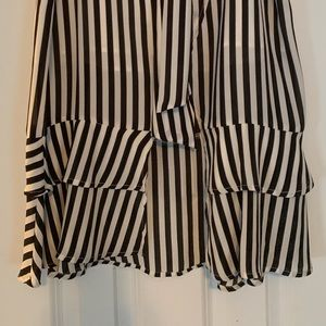 Who What Wear Skirts - whowhatwear black and white stripped skirt.